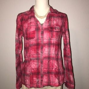 Maurices Red Plaid Long Sleeve Shirt - Great Condi